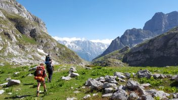 Peaks of the balkans trail in the albanian alps